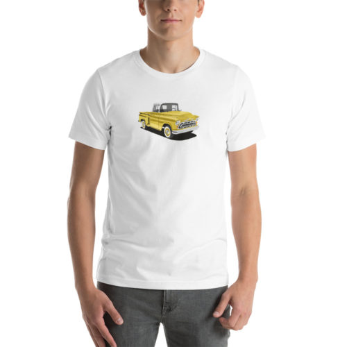 Chevy Stepside '57 Yellow Design T-shirt