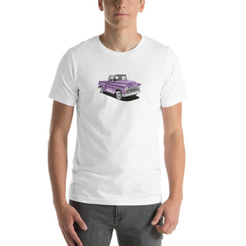 Chevy Stepside '57 Purple Design T-shirt