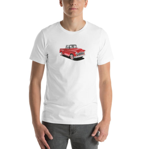 Chevy Stepside '57 Red Design T-shirt