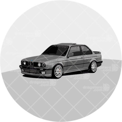 BMW E30 325i Black Design T-Shirt