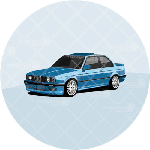 BMW E30 325i Blue Design T-Shirt