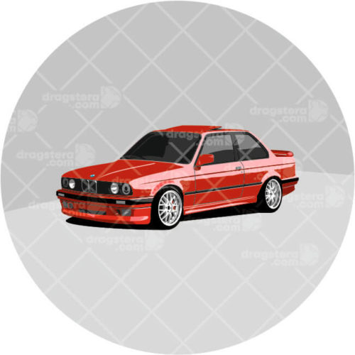 BMW E30 325i Red Design T-Shirt