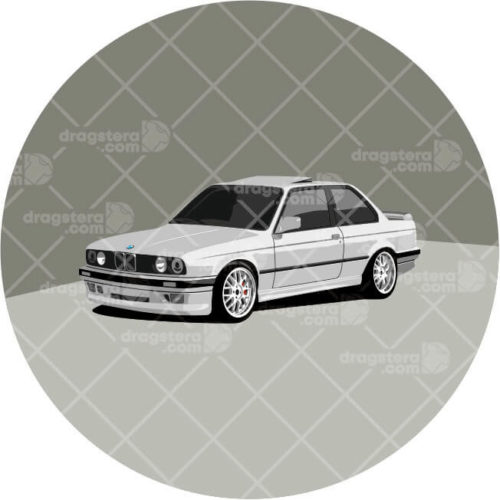 BMW E30 325i White Design T-Shirt