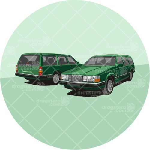 Volvo 940 Estate Green Design T-Shirt