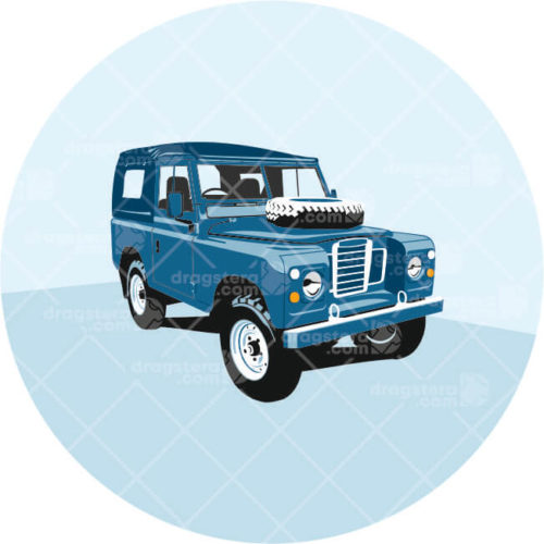 Land Rover Series III Blue Design T-Shirt