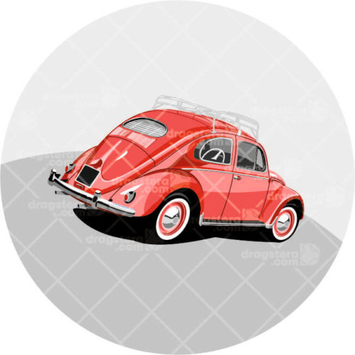VW Beetle Red Design T-Shirt