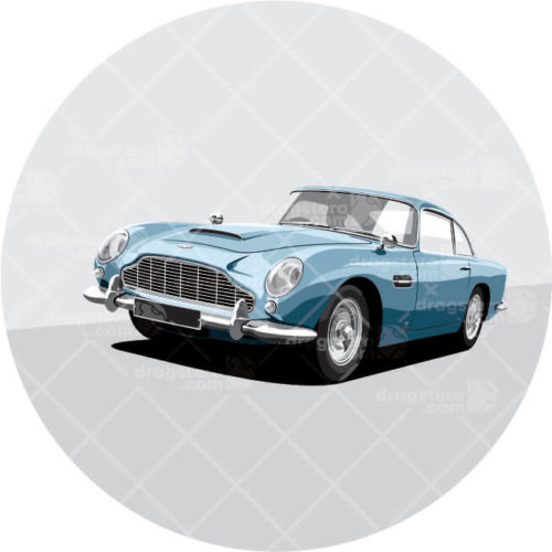 Aston Martin DB5 Blue Design T-Shirt