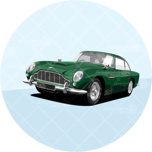 Aston Martin DB5 Green Design T-Shirt