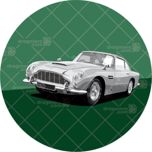 Aston Martin DB5 Grey Design T-Shirt