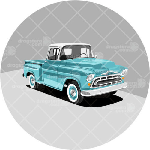 Chevy Stepside '57 Blue Design T-shirt