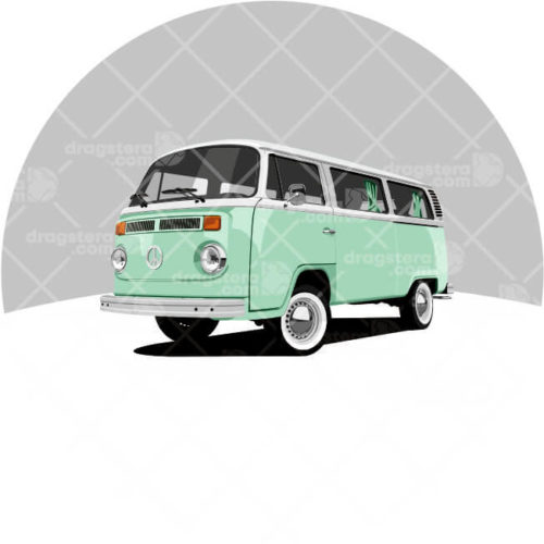 Volkswagen T2 Green Design T-Shirt