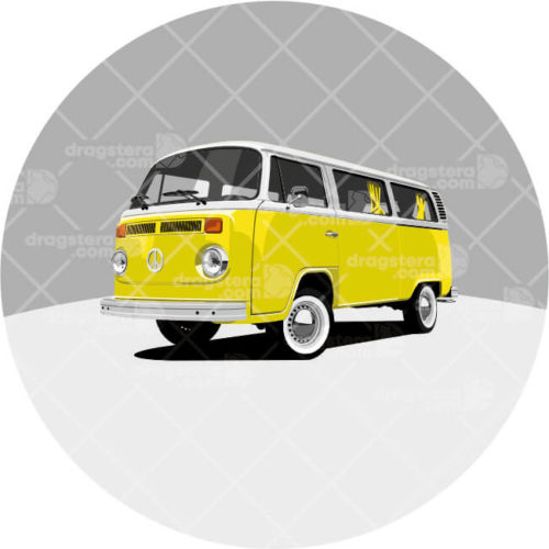 Volkswagen T2 Yellow Design T-Shirt