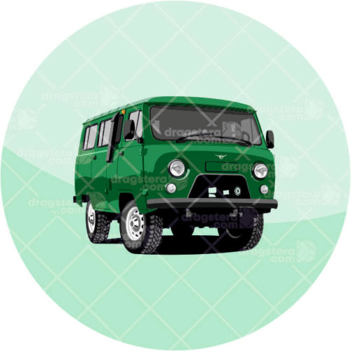 UAZ 452 Green Design T-Shirt