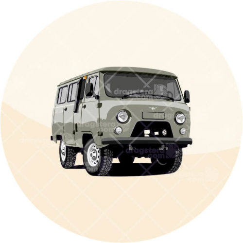 UAZ 452 Grey Design T-Shirt