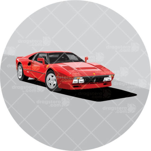 Ferrari 288 GTO Red Design T-Shirt