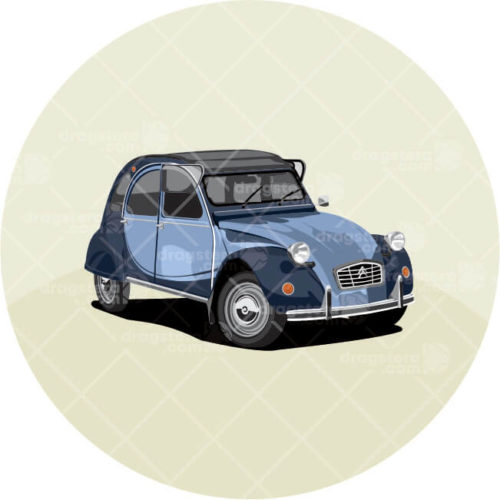 Citroen 2CV Blue Design T-Shirt