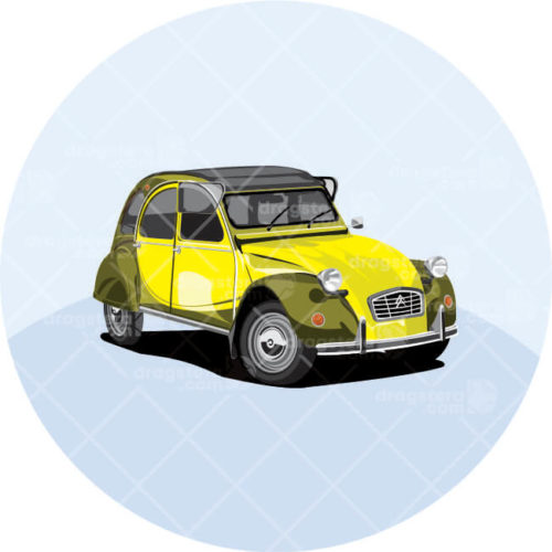 Citroen 2CV Yellow Design T-Shirt