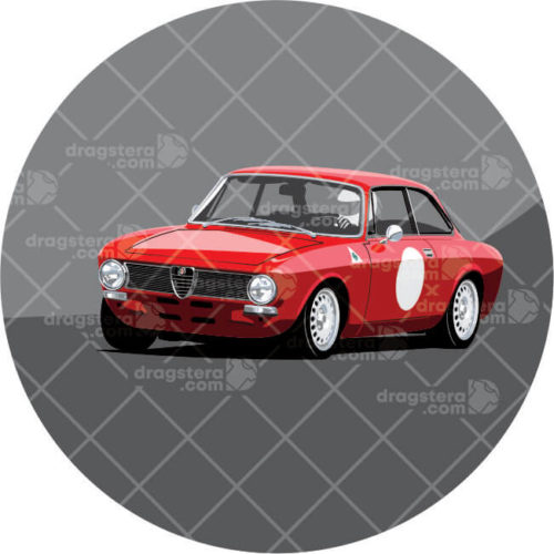 Alfa Romeo GT Junior Red Design T-Shirt