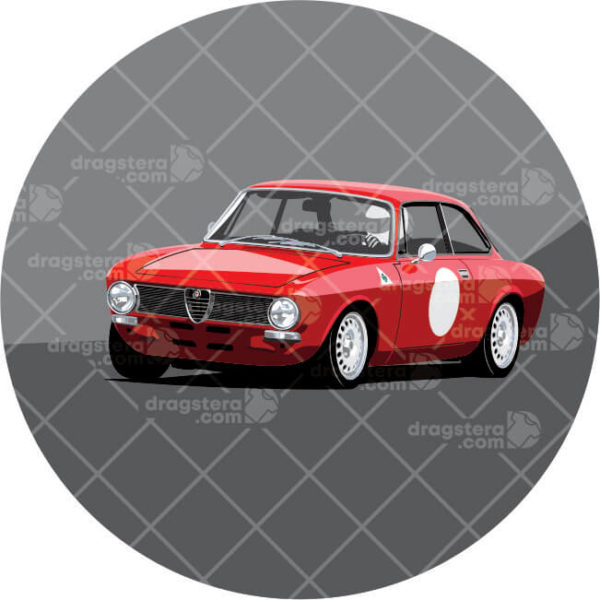Alfa Romeo GT Junior red paint design