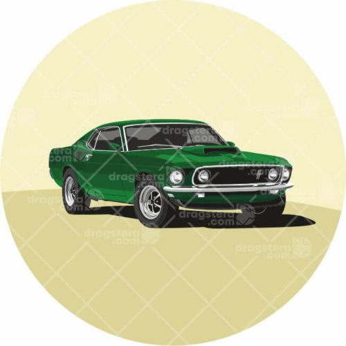 Ford Mustang Boss 429 Green Design T-Shirt