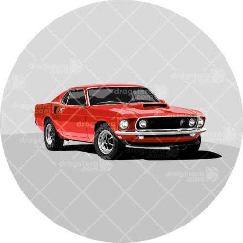 Ford Mustang Boss 429 Red Design T-Shirt