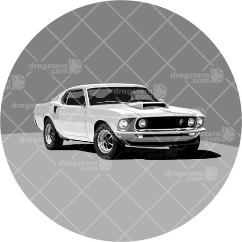 Ford Mustang Boss 429 White Design T-Shirt