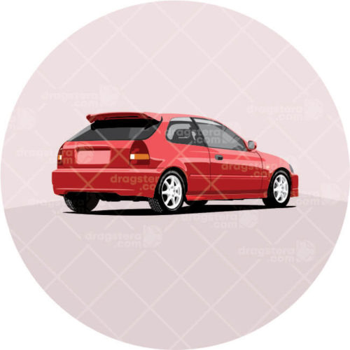 Honda Civic Red Design T-Shirt