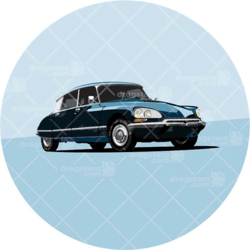 Citroen DS Blue Design T-Shirt