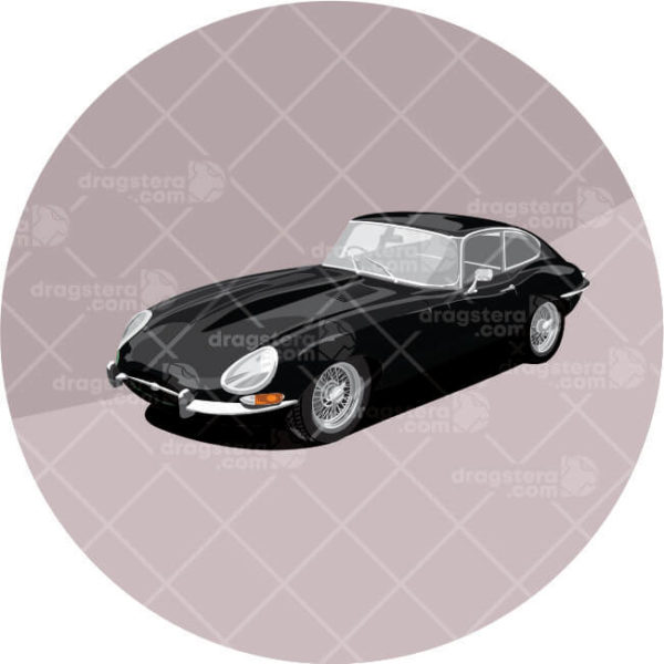 Jaguar E type black paint design
