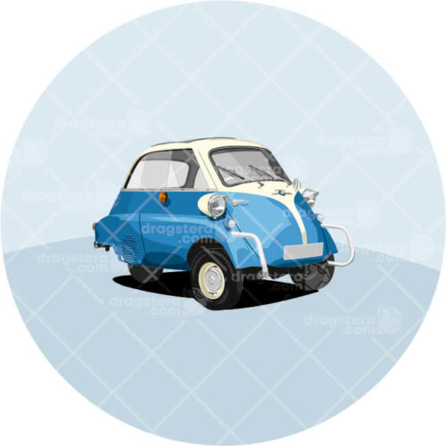 BMW Isetta Blue Design T-Shirt
