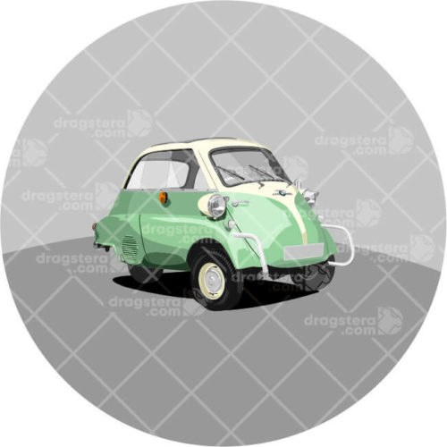 BMW Isetta Green Design T-Shirt