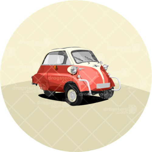 BMW Isetta Red Design T-Shirt