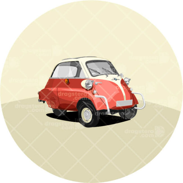 Isetta red paint design