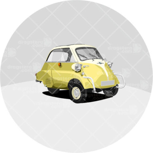 BMW Isetta Yellow Design T-shirt