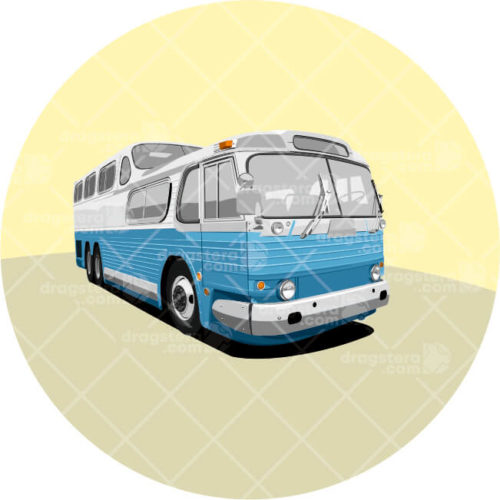 GMC Scenicruiser Bus Blue Design T-Shirt