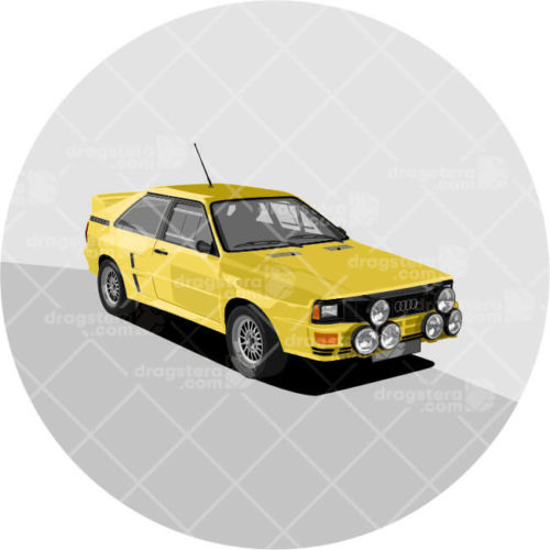 Audi Quattro A2 Yellow Design T-Shirt